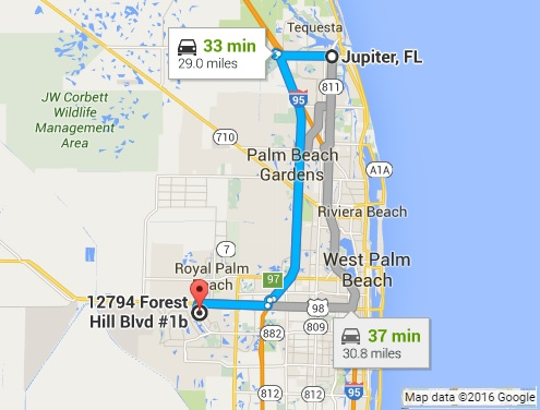Map Jupiter Florida.Google Map Directions To Pc Pros Of Wellington From Jupiter Fl Pc