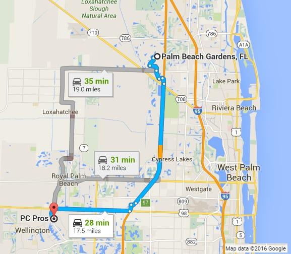Google Maps West Palm Beach Florida