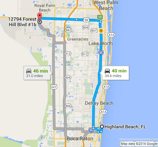 Google Map Directions To Pc Pros Of Wellington From Highland Beach Fl